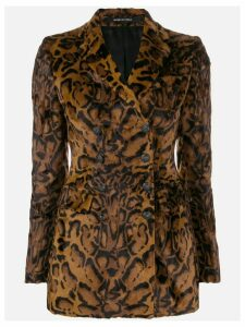 Tagliatore animal print blazer - Brown