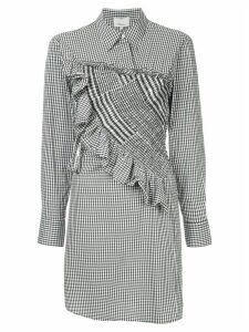 3.1 Phillip Lim Asymmetrical Gingham Shirt Dress - Black