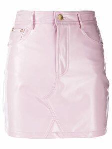 Chiara Ferragni Flirting vinyl skirt - Pink