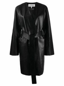 Loewe belted midi coat - Black