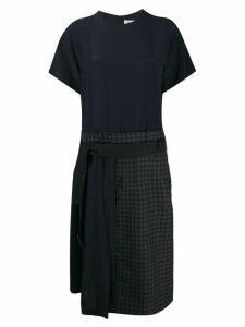 Maison Margiela Re-worked check dress - Blue