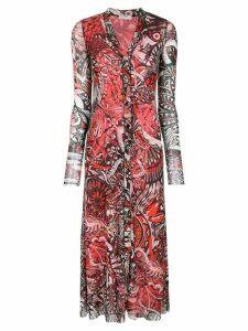 Fuzzi patterned long cardigan - Pink