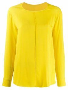 Tela round neck blouse - Yellow