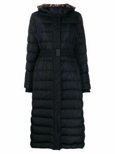 Etro belted padded coat - Blue