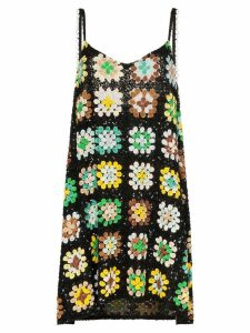 Ashish sequin-embellished crochet mini dress - Multicolour