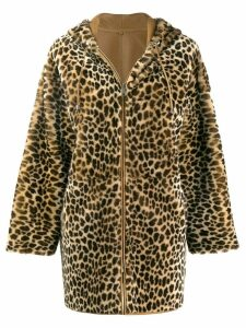 P.A.R.O.S.H. leopard print coat - 806 Neutral