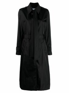 Prada bow detail trench coat - Black