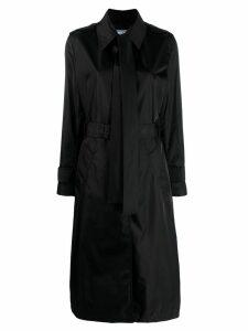 Prada bow detail trench coat - Black