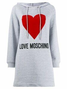 Love Moschino logo hoodie dress - Grey