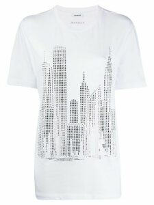 P.A.R.O.S.H. crystal embellished city T-shirt - White