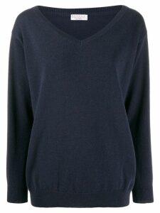 Brunello Cucinelli v-neck sweatshirt - Blue