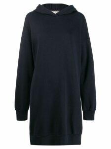 Closed logo hooded sweat dress - Blue