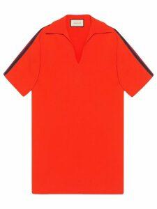 Gucci Oversize viscose shirt with Web - Orange