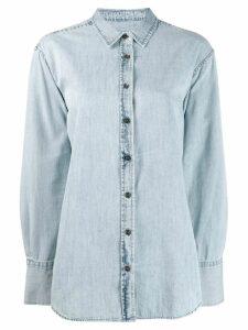 Closed button denim shirt - Blue
