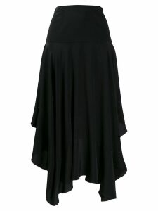 Stella McCartney asymmetric flared midi skirt - Black