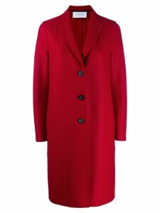 Harris Wharf London single-breasted coat - Red