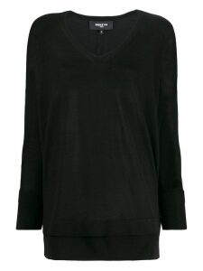 Paule Ka layered-effect V-neck pullover - Black