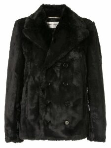 Saint Laurent faux fur coat - Black