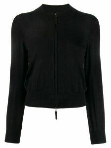 Paule Ka fitted zip-up cardigan - Black