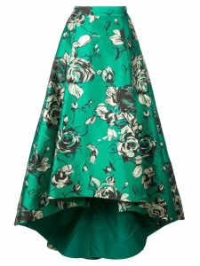 Alice+Olivia asymmetric pleated skirt - Green