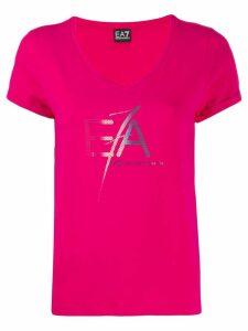 Ea7 Emporio Armani logo print T-shirt - Pink