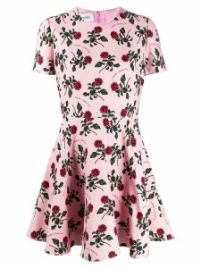 Valentino floral print skater dress - Pink