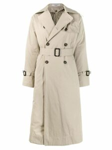 Katharine Hamnett London double breasted trench coat - NEUTRALS