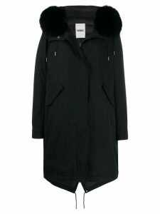 Yves Salomon fox fur parka - Black