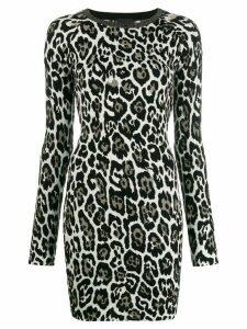 Just Cavalli leopard print dress - White