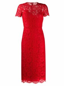 Valentino lace overlay dress - Red