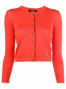 Paule Ka cropped slim-fit cardigan - Red