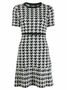 Paule Ka short houndstooth dress - Black