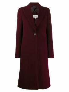 Maison Margiela single-breasted coat - Red