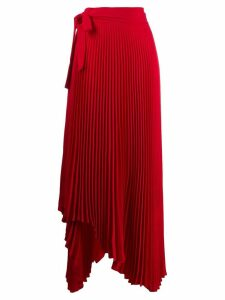 A.W.A.K.E. Mode Doric asymmetric pleated skirt - Red