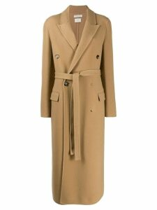 Bottega Veneta textured belted coat - Neutrals