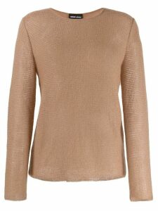 Giorgio Armani long-sleeved jumper - Neutrals