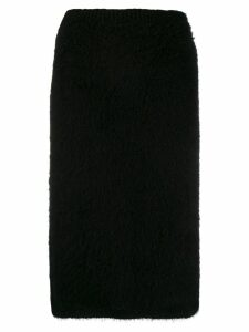 Versace midi knitted pencil skirt - Black