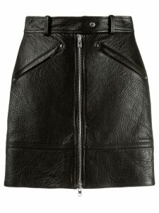 Kenzo zipped leather skirt - Black