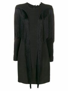 Stella McCartney fringed fitted dress - Black