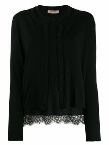 Twin-Set long sleeved cardigan - Black