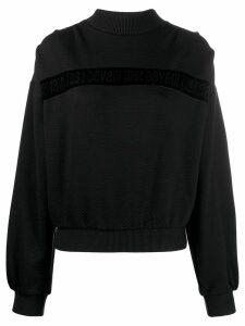 Just Cavalli velvet trim jumper - Black