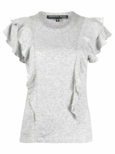 Veronica Beard ruffle sleeve T-shirt - Grey