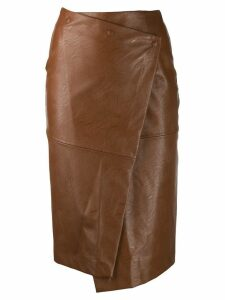 Nude wrap across skirt - Brown