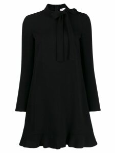 Red Valentino REDValentino tie-neck mini dress - Black