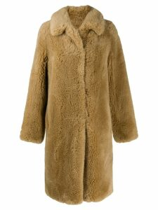 Yves Salomon Meteo oversized faux fur coat - Neutrals