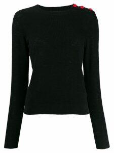 Bellerose shoulder-button slim sweater - Black