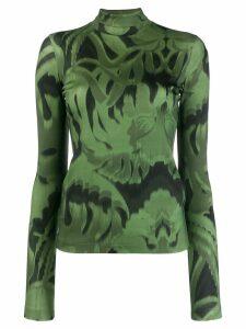 Just Cavalli printed roll neck jumper - Green