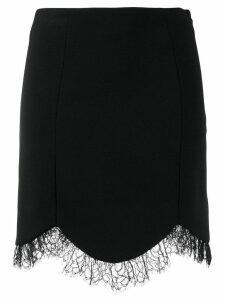Just Cavalli high waisted lace skirt - Black