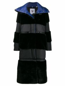 Rossignol panelled padded coat - Black