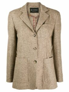 Etro herringbone patch pocket blazer - Neutrals